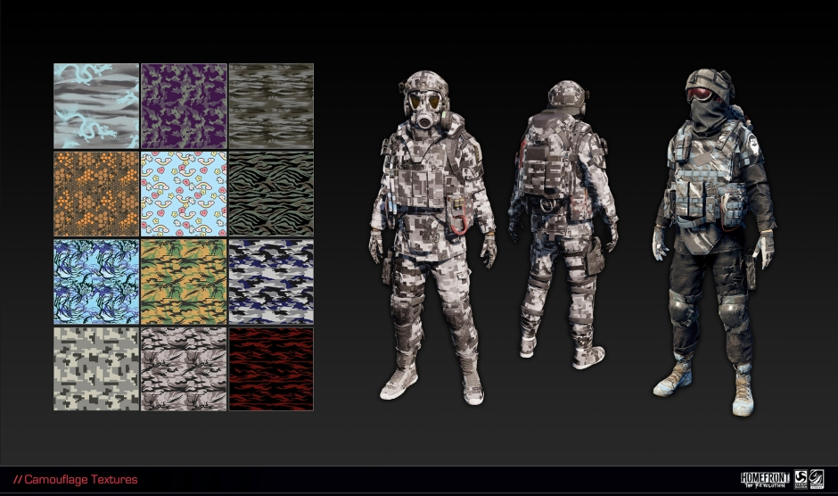 Textures implemented in-game by the character team.