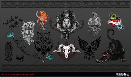 character-tattoos-clothing-decals